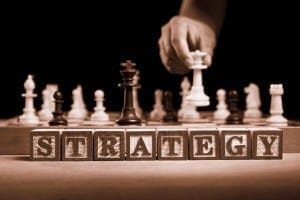 strategy move on chess board