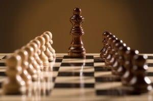 Chess board branding