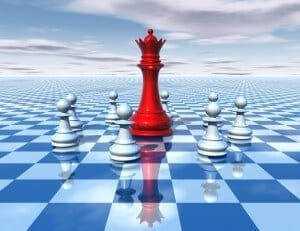 Red chess queen