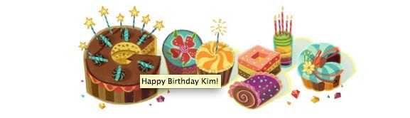 happy birthday message from google