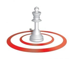 photo of chess queen inside a target