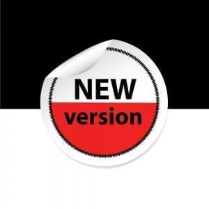 rebranding label says new version