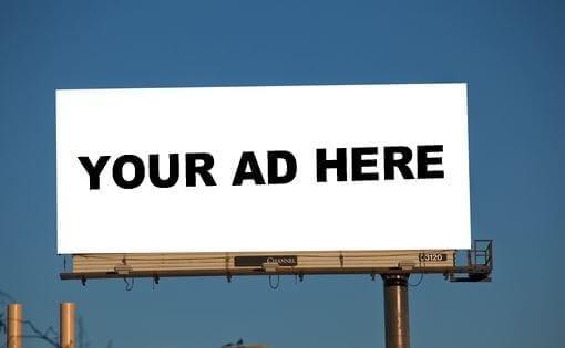 photo of empty billboard