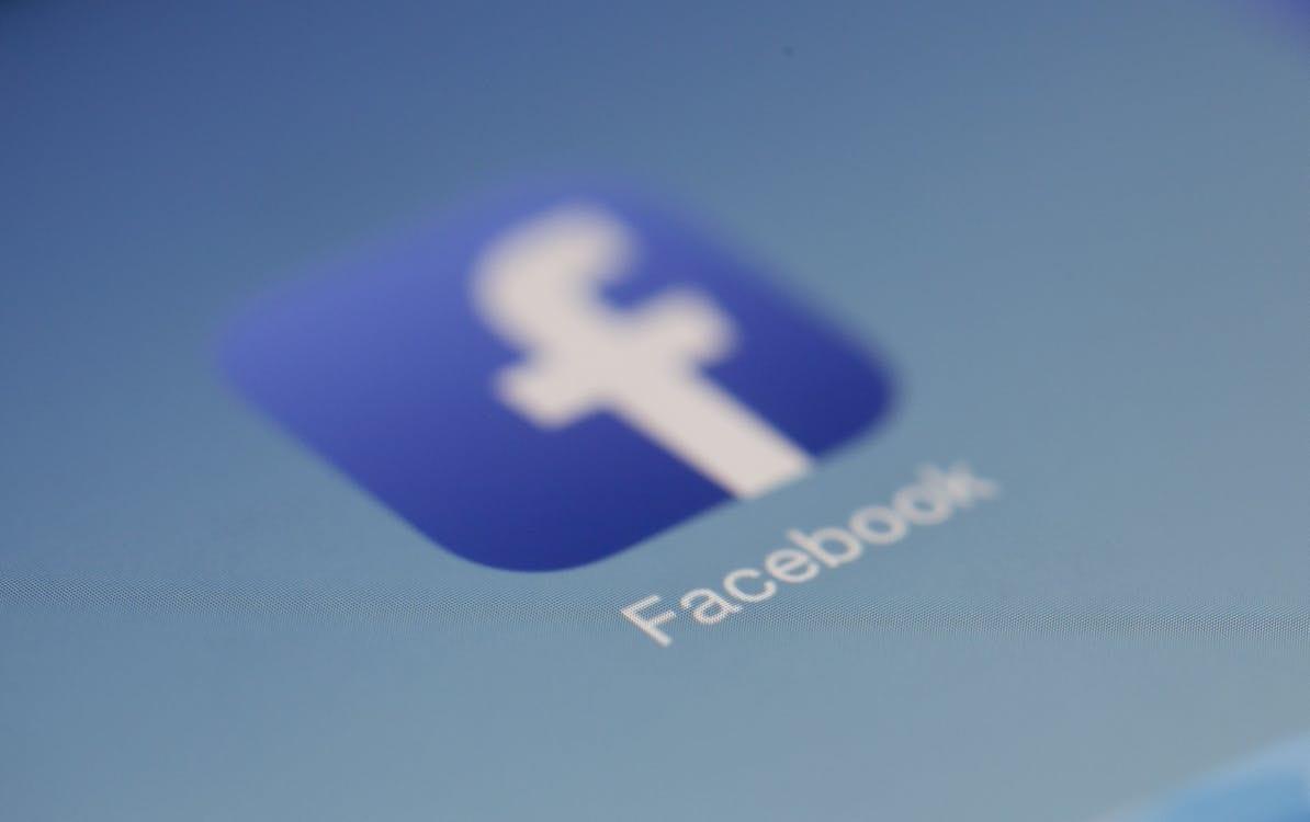 image of fuzzy facebook logo