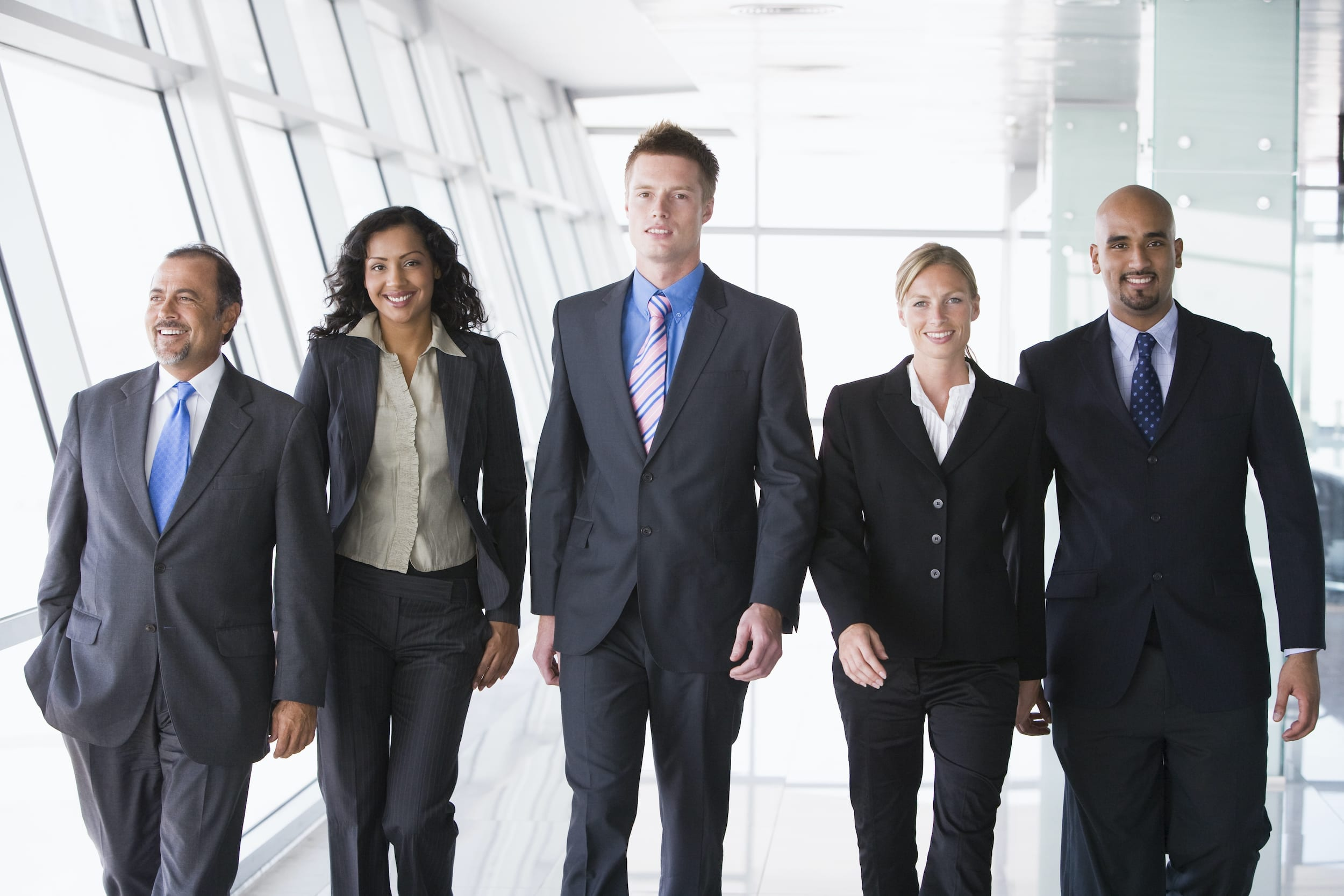 photo of 5 diverse adults in business attire